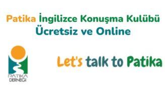 Patika İngilizce Konuşma Kulübü : Ücretsiz ve Online