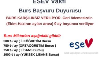 ESEV Burs Duyurusu
